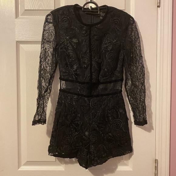 Topshop Petite lace jumpsuit